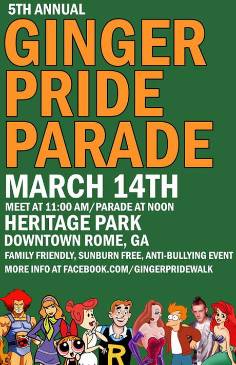 Ginger Pride Parade 2015